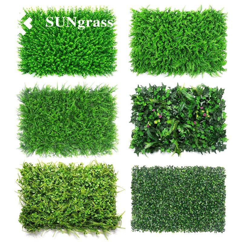 Artificial Plants Flower Wall Panels Wedding Venue Background Decor Green Grass