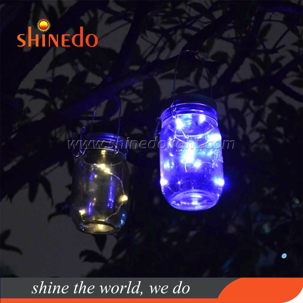China Led Fairy Light Mason Jar Solar Light Lids Outdoor