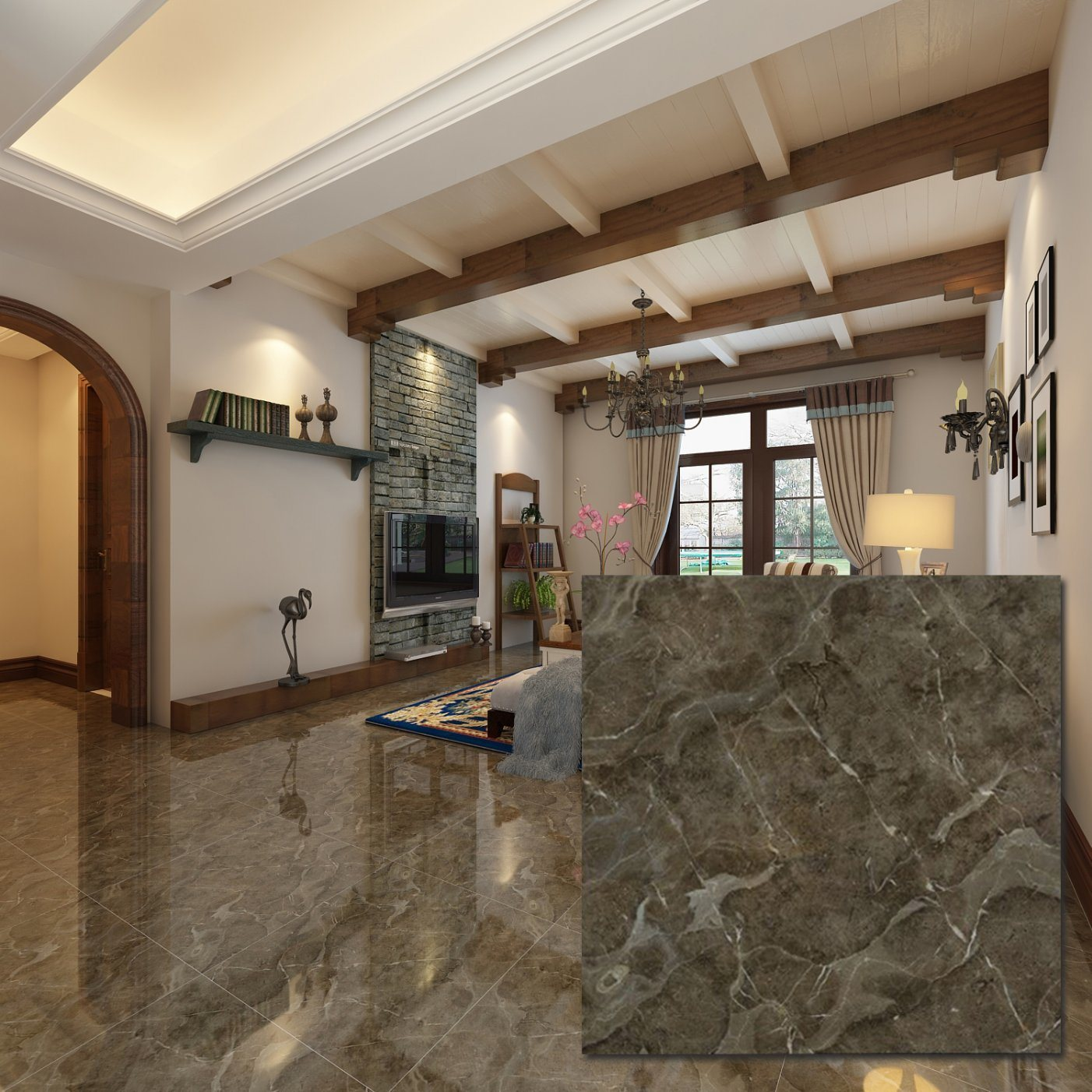 China 24x24 Inch Mexican Italian Marble Vitrified Flooring Tile China Floor Tile Ceramic Porcelain Tile