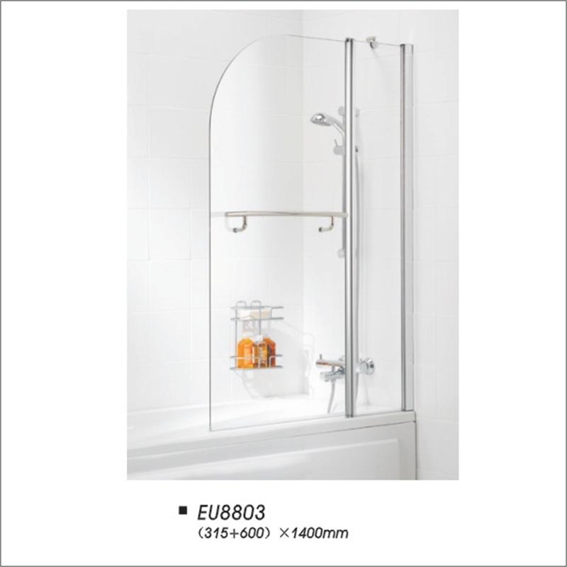 China European Style Bathroom Pivot Partition Bathtub Shower Screen ...