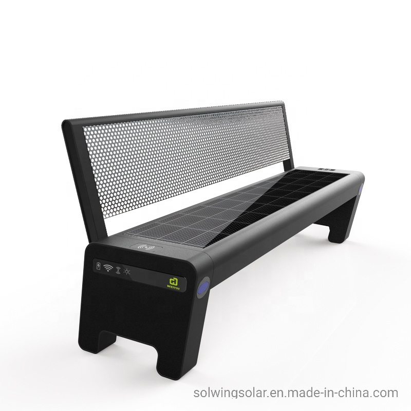 Enjoyable Hot Item Solar Panel Park Bench Public Street Seats With Wireless Charging Outdoor Bench Evergreenethics Interior Chair Design Evergreenethicsorg