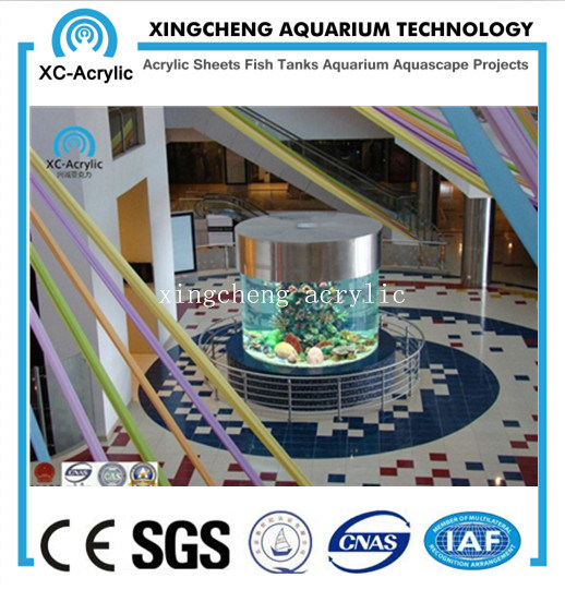 Cylindrical Acrylic Aquarium / Large Transparent Cylindrical Acrylic Aquarium by Customized for Acrylic Aquarium Project pictures & photos