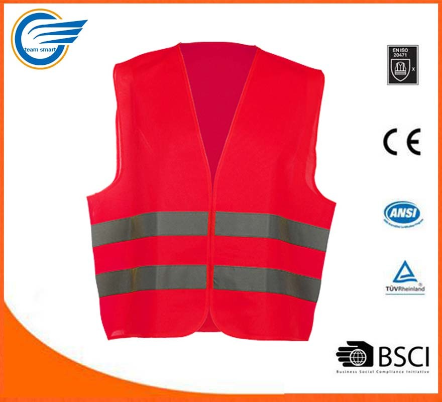 High Visibility Safety Jacket Reflective Jacket With En20471