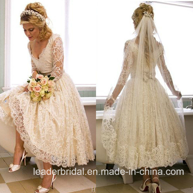 Short Long Sleeves Wedding Dresses