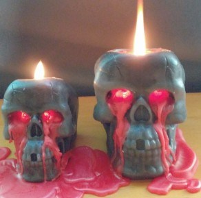 Bleeding Skull Bone Human Head Shaped Candle Novelty Candles Specialty