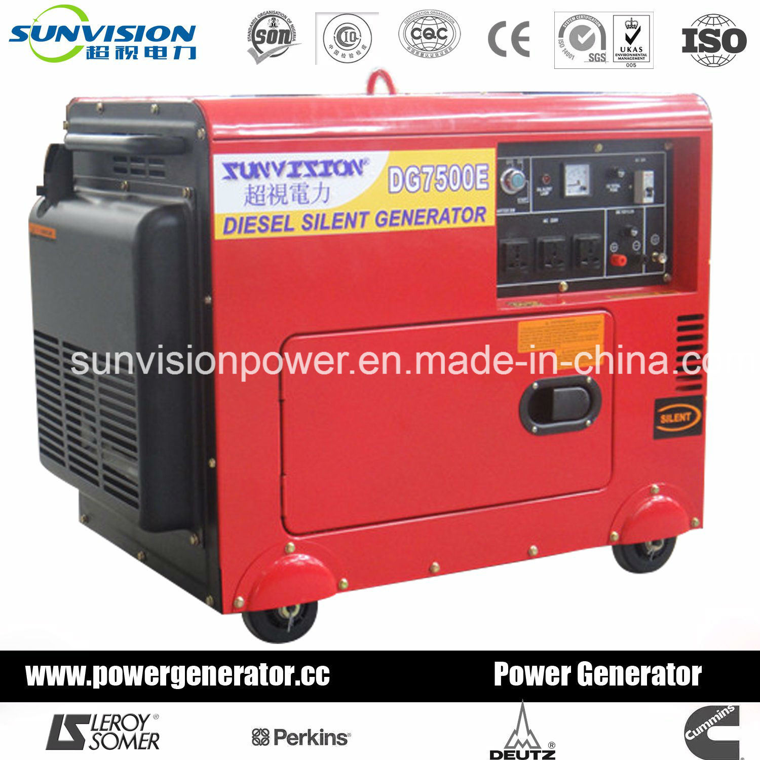 China 3kw Portable Diesel Generator Air Cooled Genset with Ce ISO
