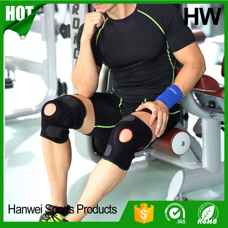 Top Quality Sport Compression Patella Wrap Safety Knee Sleeve (HW-KS003)