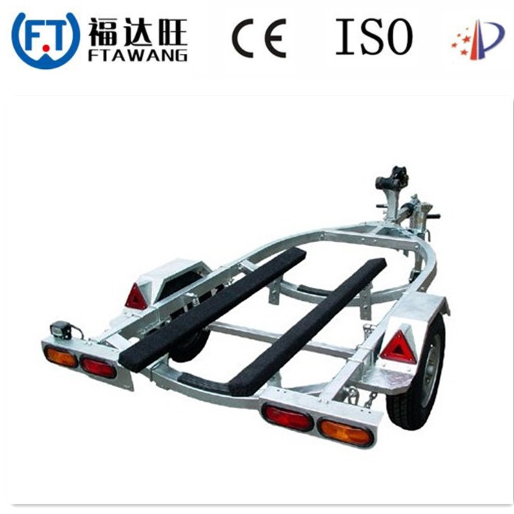 Galvanizing Roller Speed Boat Trailer Yacht Boat Trailer