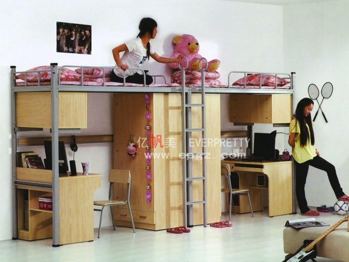 Twin Over Bunk Bed With Desk