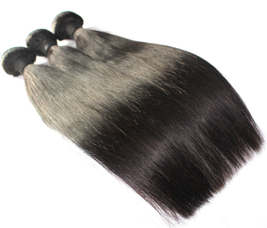 8A Natural Color Straight Brazilian Virgin Human Hair Weft