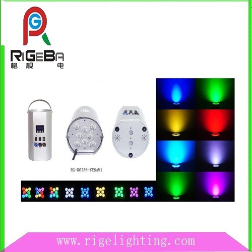 8 LEDs Wireless Cylinder Spot Stage Lights pictures & photos