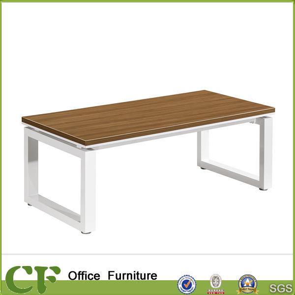China Modern Design Standard Size Reception Area Wooden Tea Table