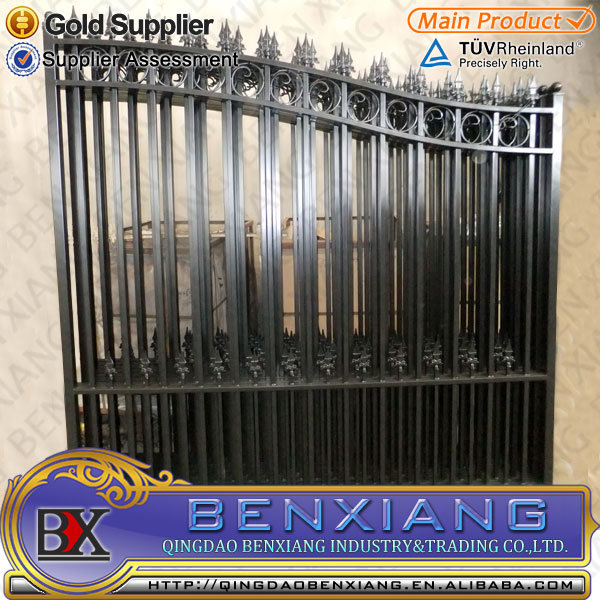 China Iron Main Gate Designs House Gates Wrought Iron Gate China