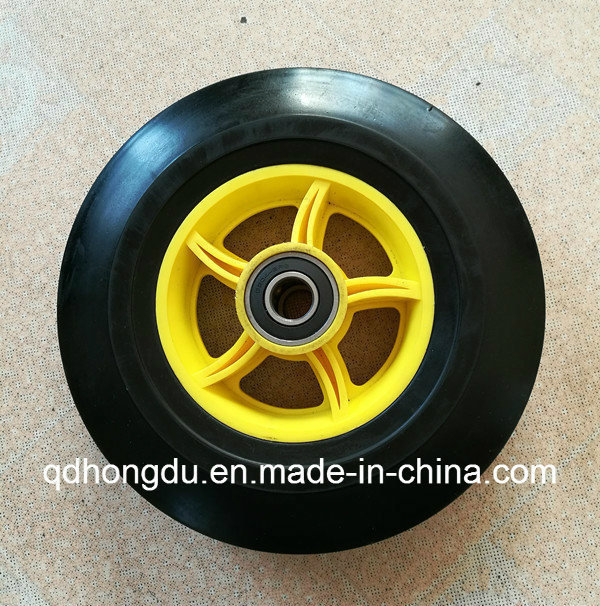 Plastic or Steel Rim Solid Rubber Wheel (10 Inches) pictures & photos