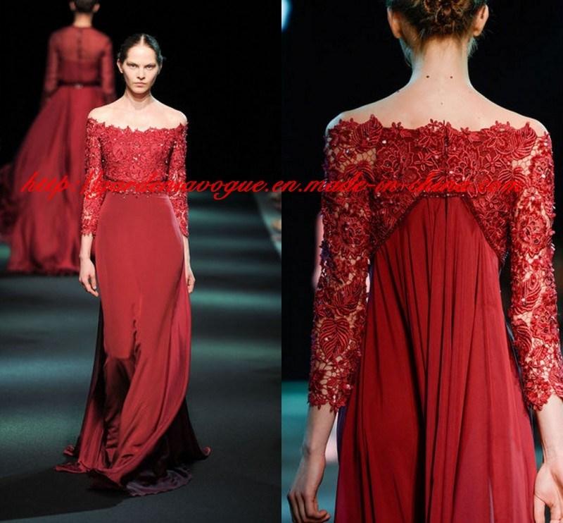 China Elegant Red Carpet Summer Women Clothing off