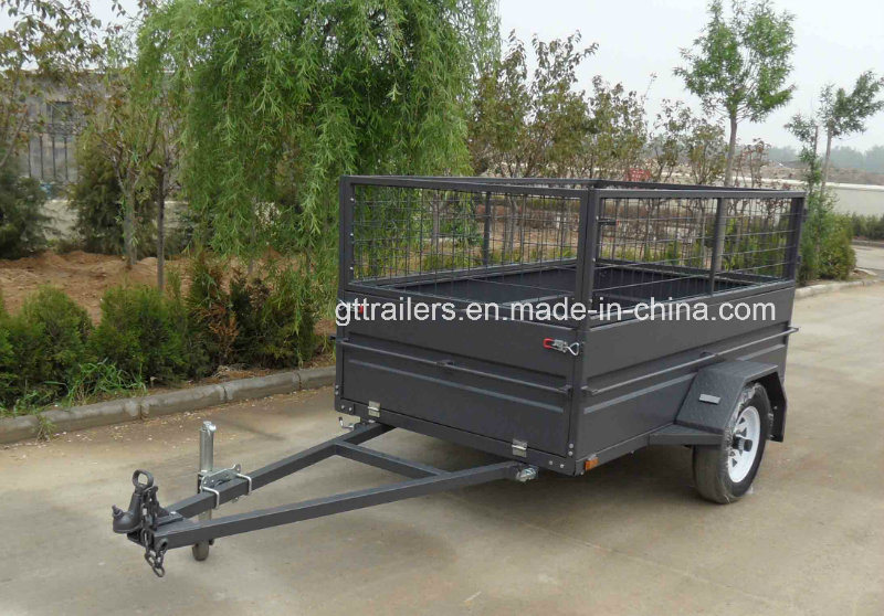 7X4 Box Trailer with Cage Tr0310