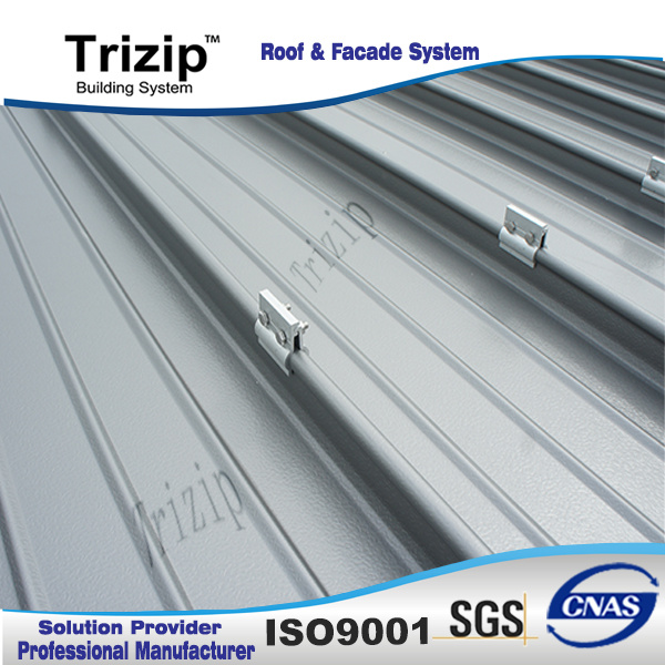 Trizip 65-400 Standing Seam Roofing Sheet (Approved by FM)