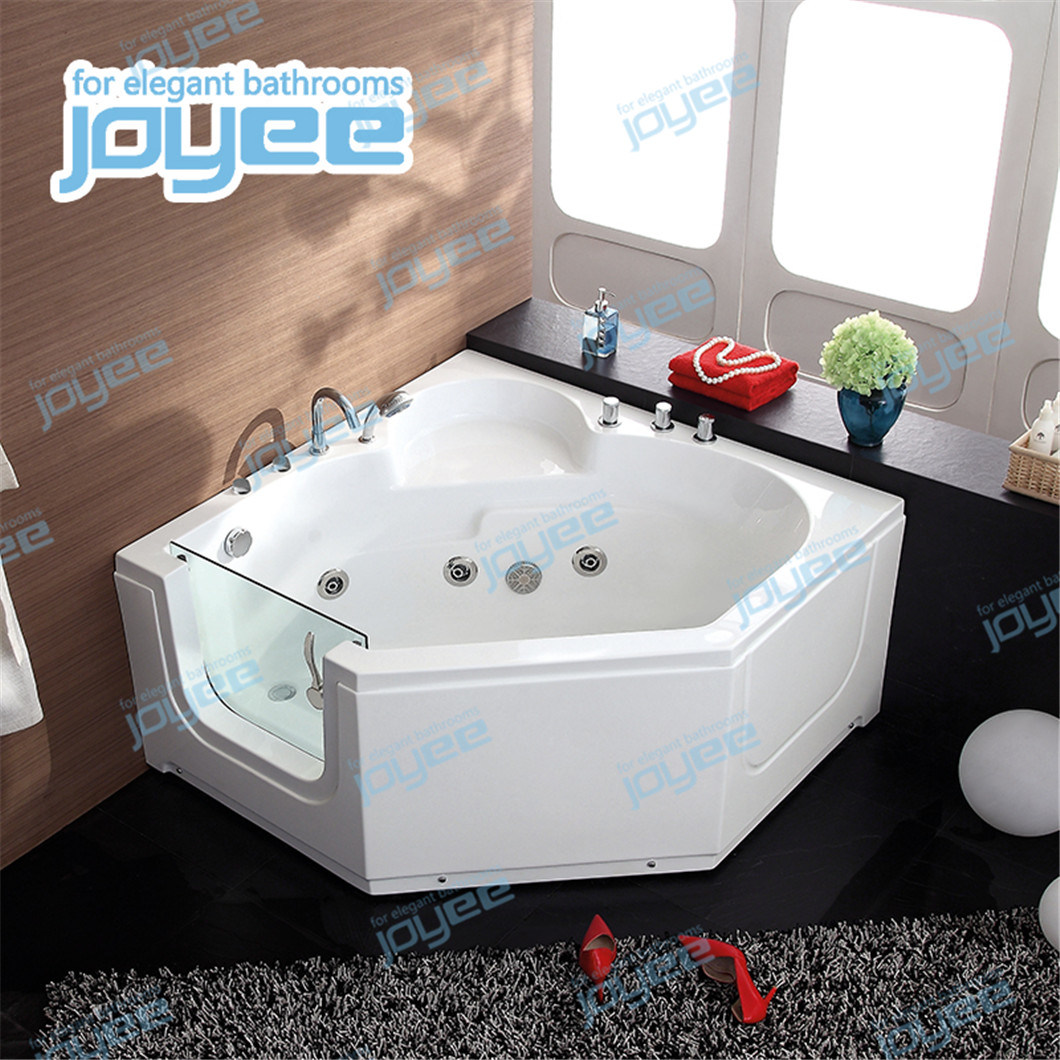 Joyee Good Quality Corner Small Space Soaking Portable Walk In Hot Tub Jacuzzi Bathtub For Elder With Glass Door China Indoor Jacuzzi Walk In Bathtub Made In China Com