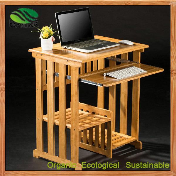 China Bamboo Mini Computer Desk Bedside, Bamboo Computer Desk