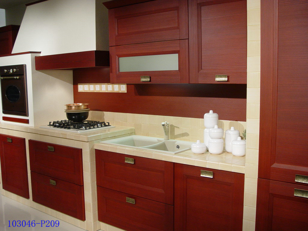 China MDF with PVC Wrap Kitchen Cabinets - China MDF ...
