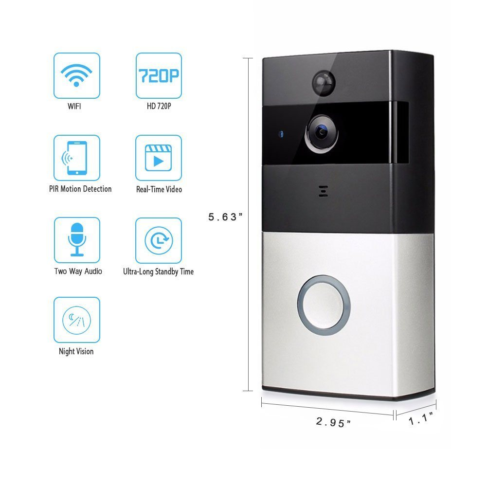 Home Security Intercom PIR Detection Ring Smart Dingdong Doorbell WiFi pictures & photos