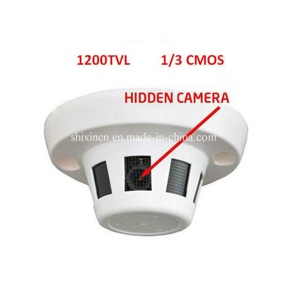 China 1200tvl Cmos Smoke Detector Hidden Video Surveillance Cctv
