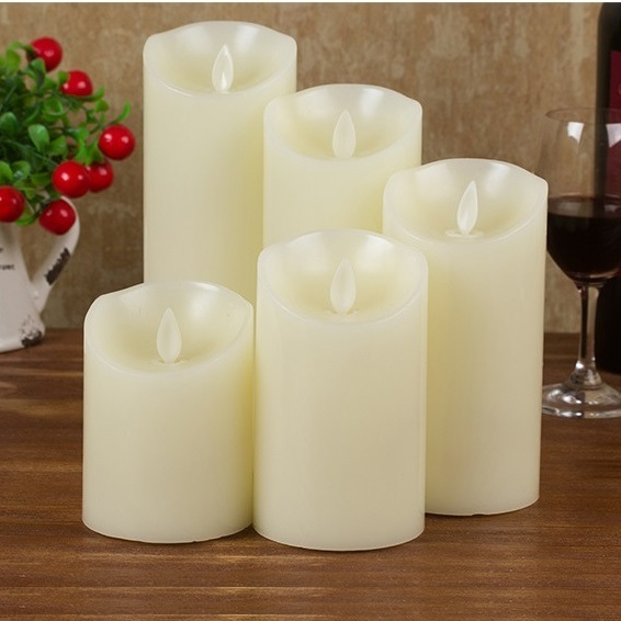 Moving Wick Flameless Led Candle