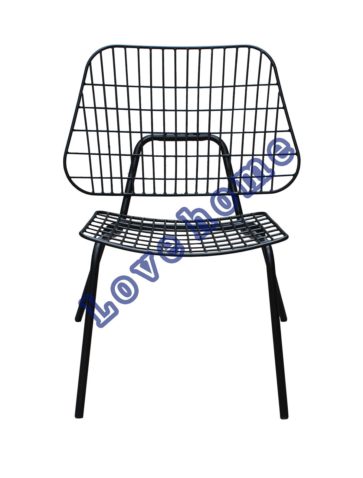China Modern Metal Wire Leisure Outdoor Stackable Steel Deck Side Phone Line Wiring Chair Chairs