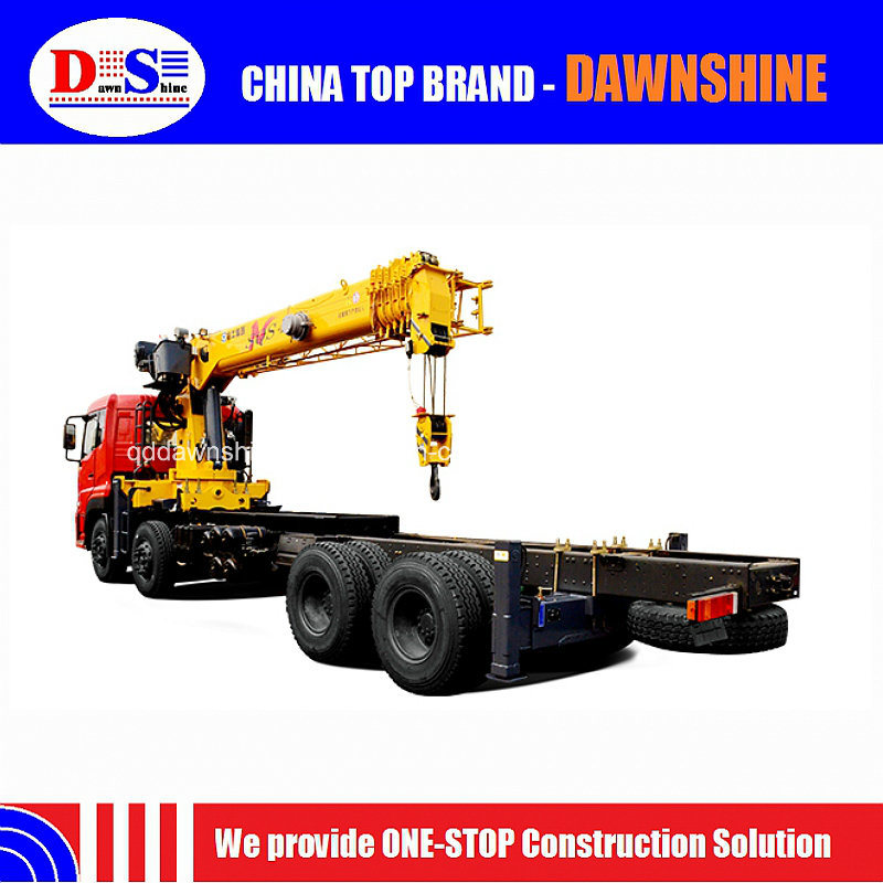 20 Ton Sqs500K Telescopic Boom Trailer Mounted Cranes Lifting Height 24m pictures & photos