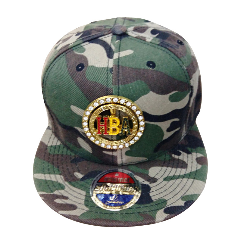 [Hot Item] Hot Sale Fitted Hat with Metal Badges Sk1608