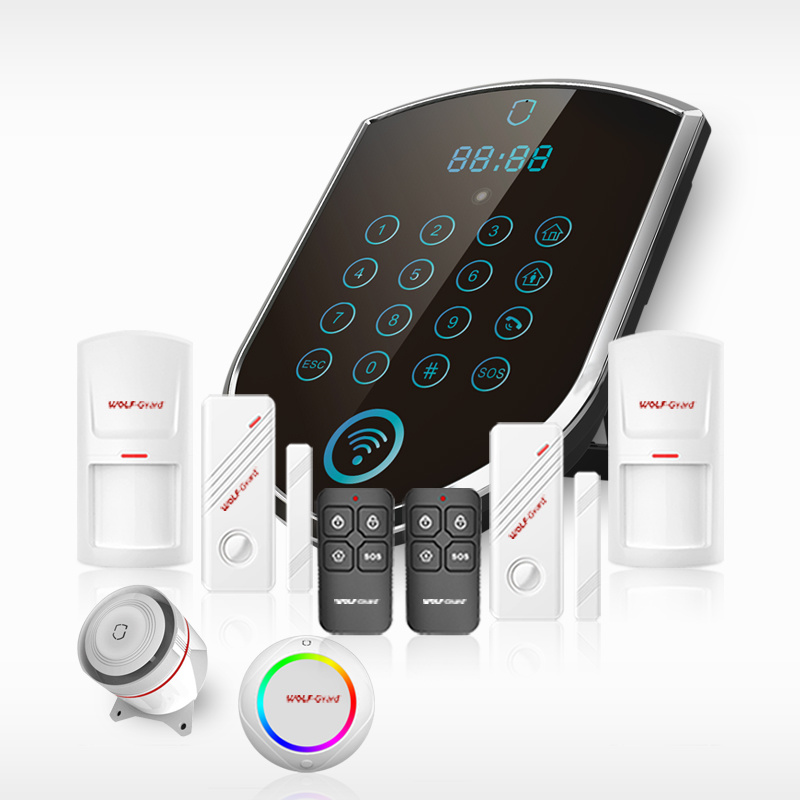 New Wolf-Guard Wireless Home GSM Alarm System for Home Protect and for Home safety Guard