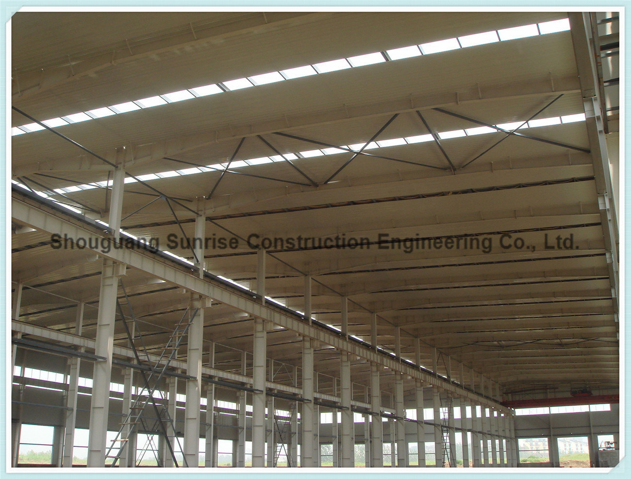 China Prefab Large Span Metal Steel Frame Structure Building ...