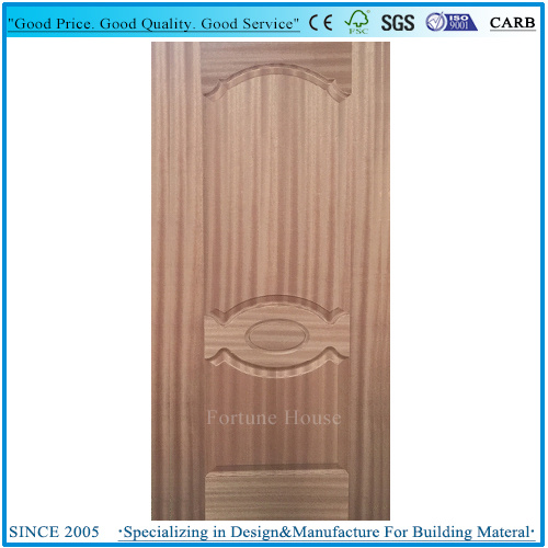 Moulded HDF/MDF Sapele Veneer Door Skin  sc 1 st  Fortune House Building Material Limited & China Moulded HDF/MDF Sapele Veneer Door Skin - China Door Skin ...