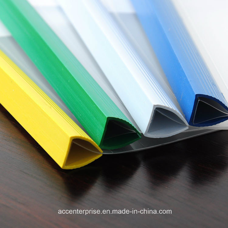 China Pvc Slide Binder Plastic Spine Bar Different Color
