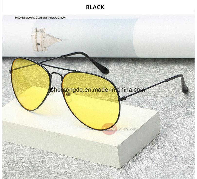 ab1d78b987e Pilot Aviation Night Vision Sunglasses Men Women Goggles Glasses UV400 Sun  Glasses Driver Night Driving Eyewear
