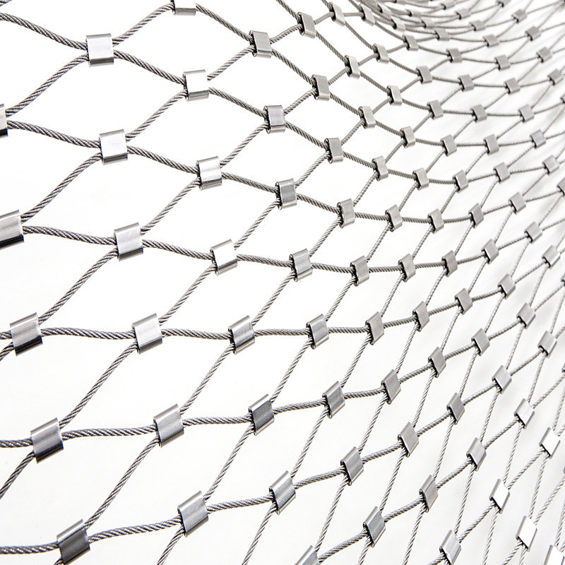 China Animal Enclosure 7X19 Stainless Steel Wire Rope Zoo Mesh ...