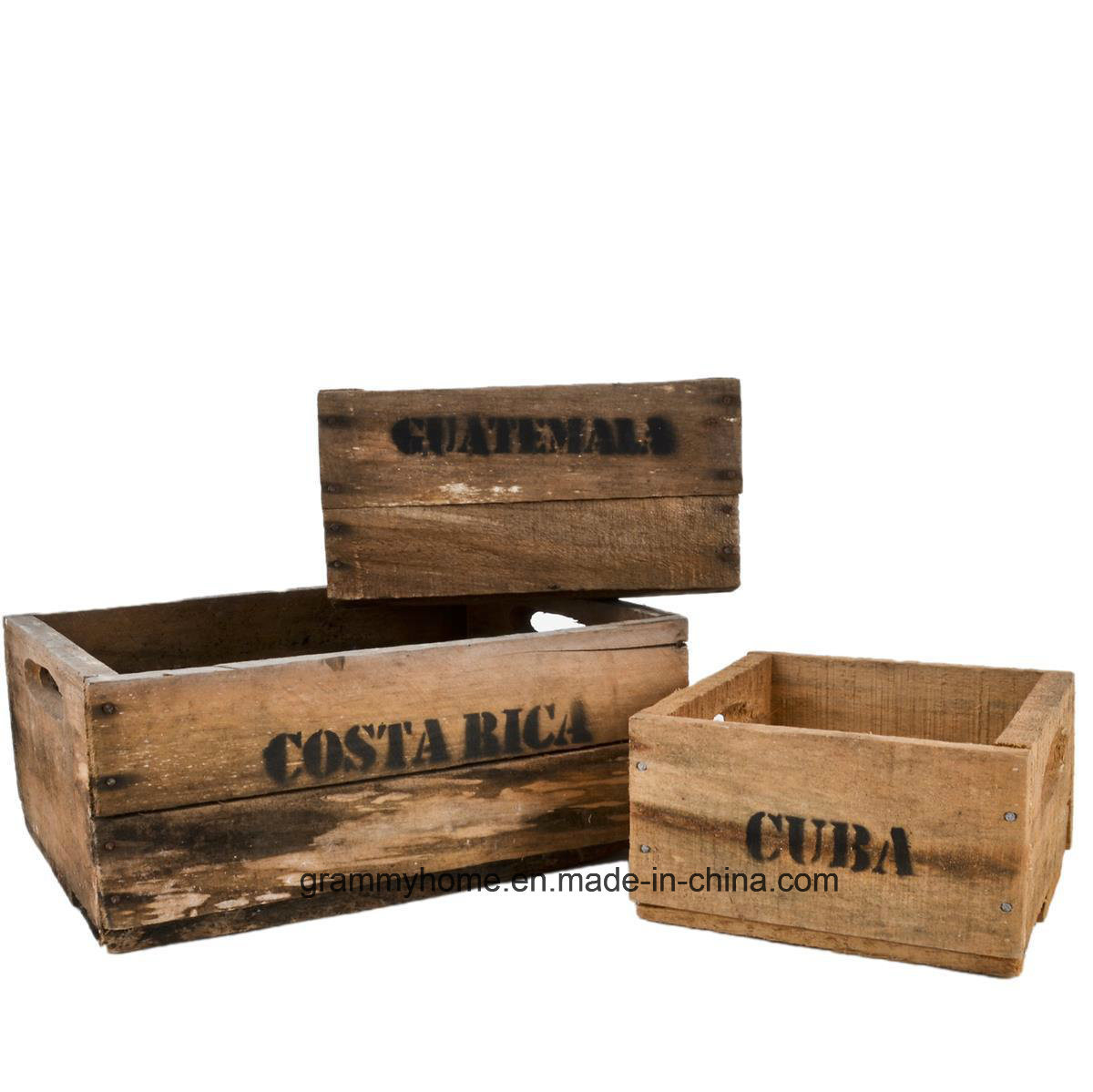 China Home Storage Wooden Crate Boxes 3 Pack Nostalgia Small Furniture China Personalised Wooden Beer Crate And Vintage Wooden Box Price