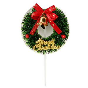 Hot Sales Christmas Wreath Pick, Christmas Cake Decorations