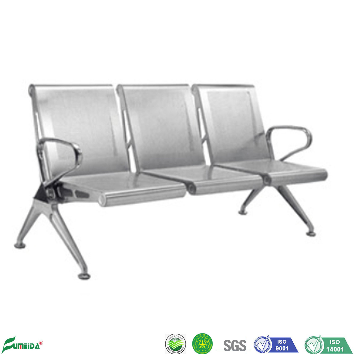 [Hot Item] 8 Stainless Steel 8 Seater Airport Beach Chair Metal Waiting  Chair