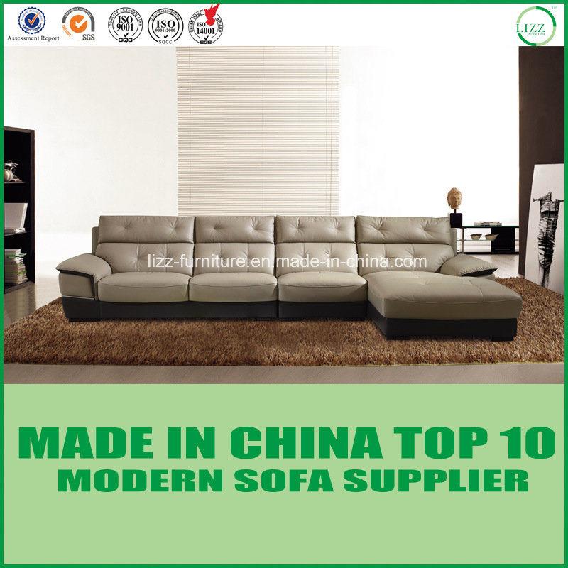 [Hot Item] Contemporary Modern Leather Corner Sofa Lizz Furniture