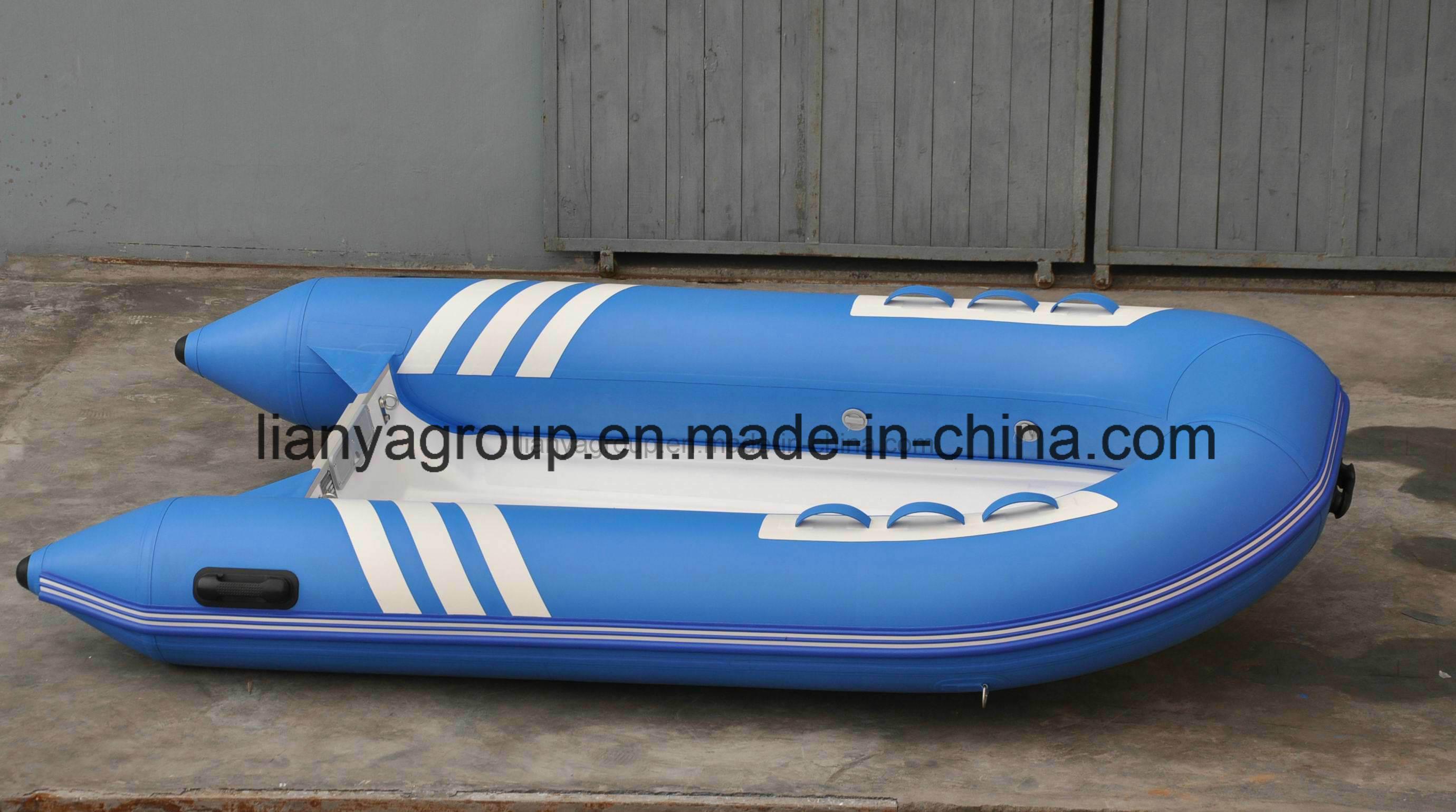 [Hot Item] Liya Fiberglass Small Fishing Boat PVC Flat Bottom Inflatable  Boat