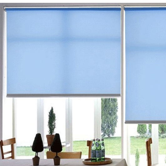 Blue Color Roller Blinds Office Sunshade Curtains Window