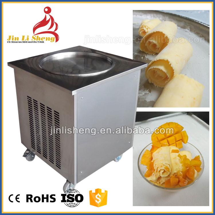 China Well Cooling Hot Sell Fried Ice Cream Machine Single Pan China Ice Roll Machine Fried Ice Cream Machine