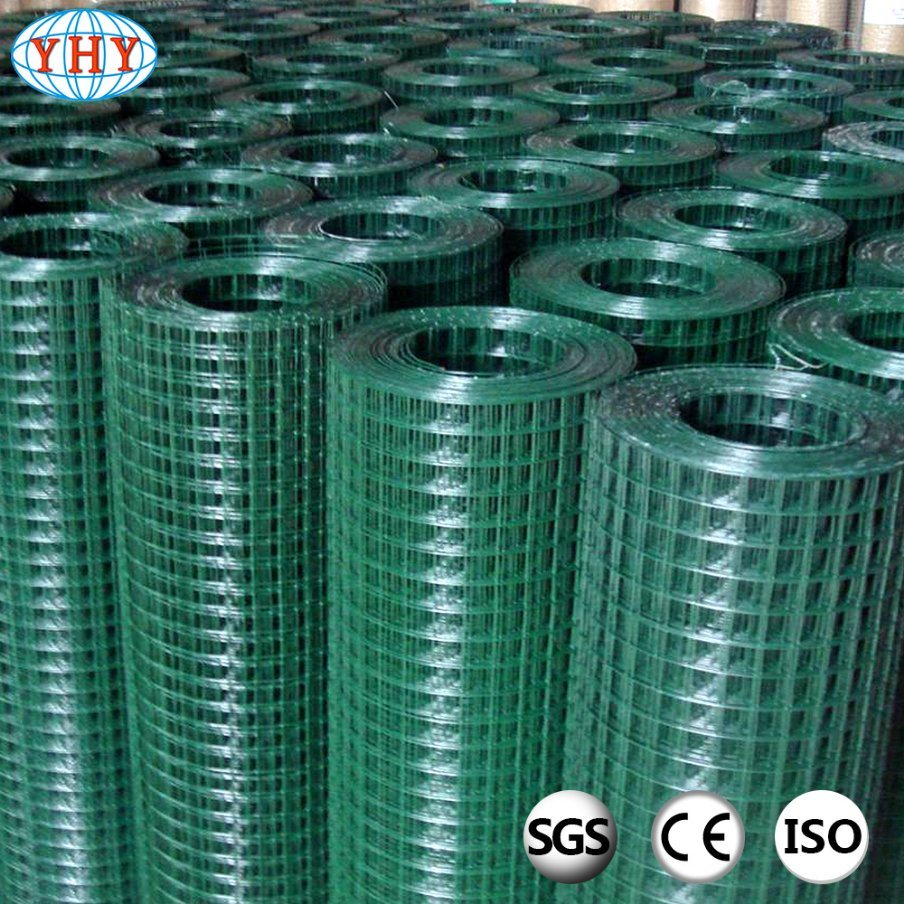 China Green Color PVC Coated Welded Wire Mesh Roll Photos & Pictures ...