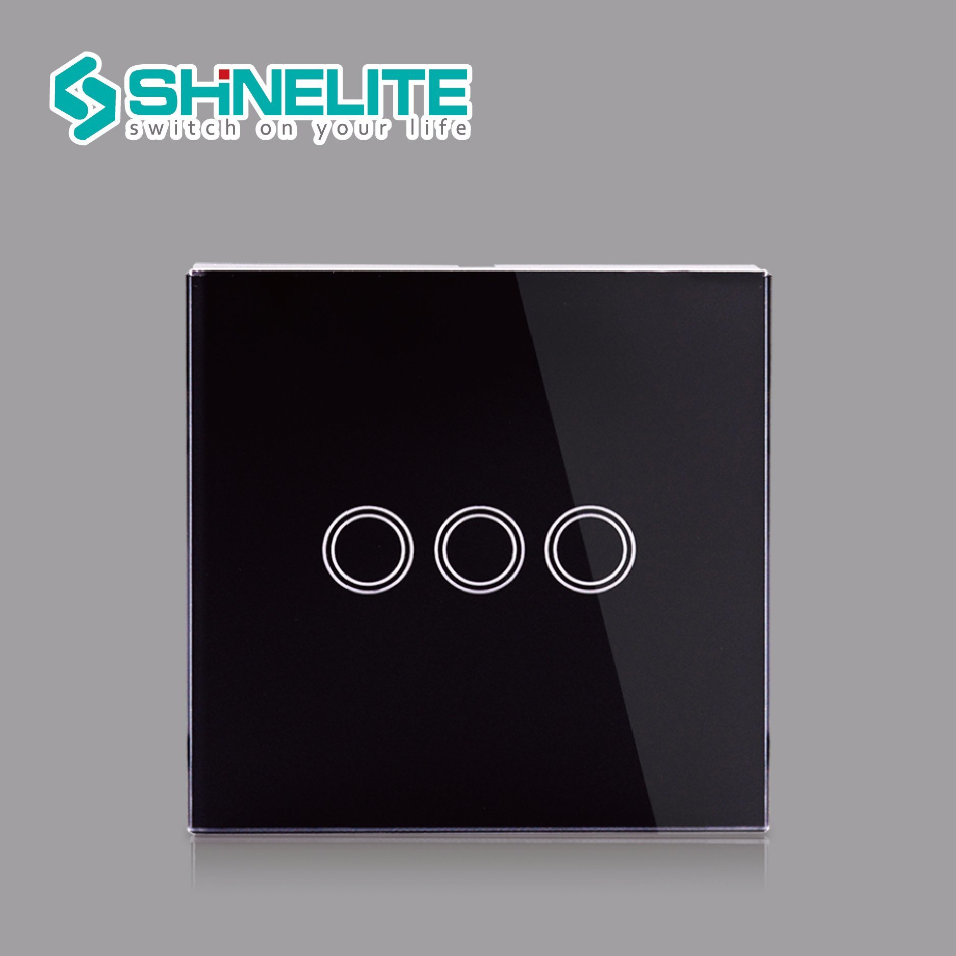 China Electric Switch Uk Standard Luxury Crystal Glass Panel And 3 Way Smart Light Gang 1 Touch Wall