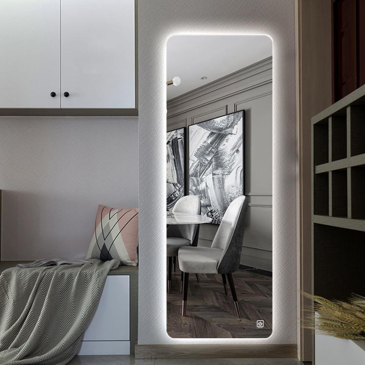 China Big Wall Led Dressing Room Mirror, Dressing Room Mirror With Light Furniture
