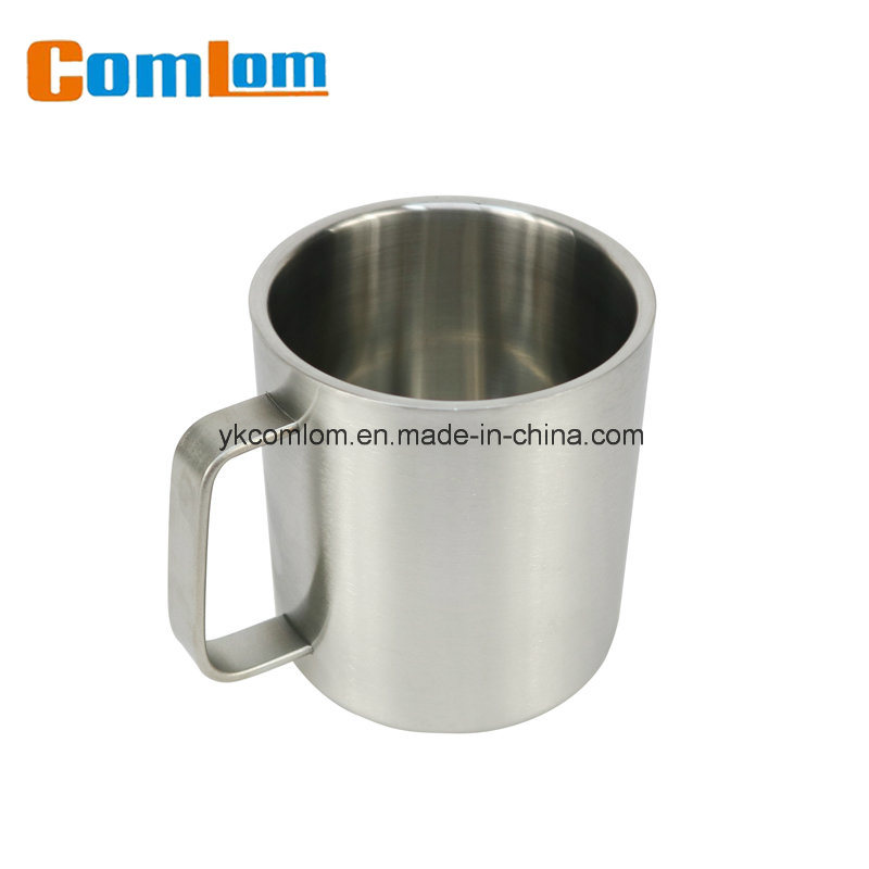 ef36bc96824 CL1C-M116 Comlom 14oz Double Wall Stainless Steel Coffee Travel Mug With  Handle