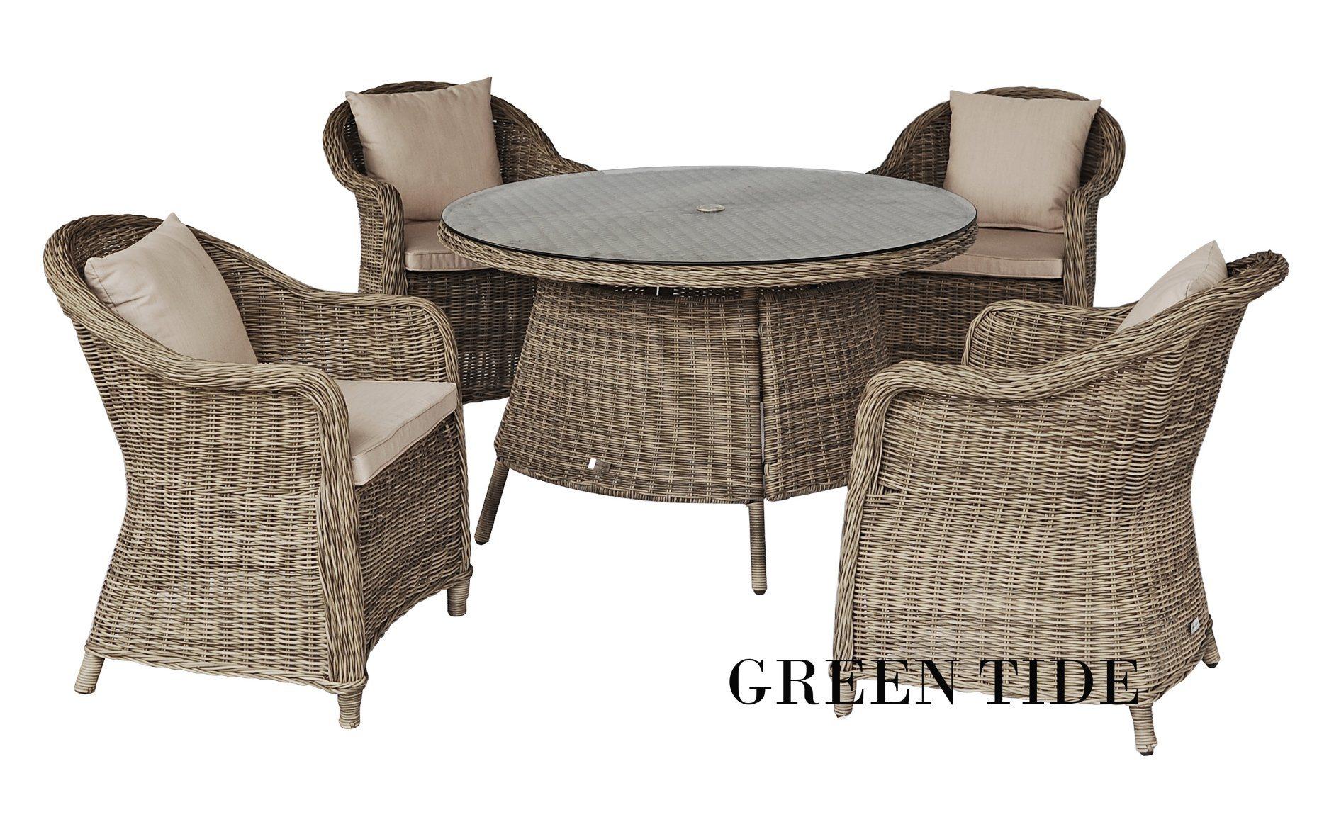 Round Wicker Rattan Dining Furniture