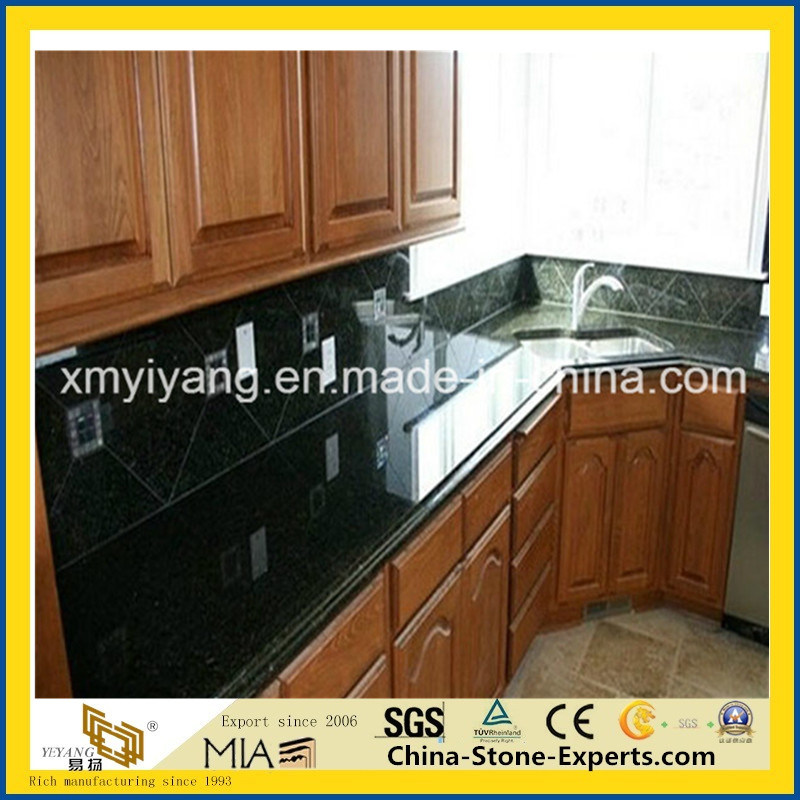 China Verde Ubatuba Granite Kitchen Countertop