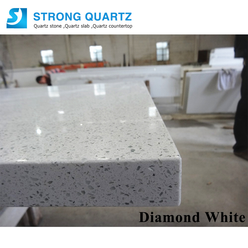 Crystal White Quartz Stone Slabs